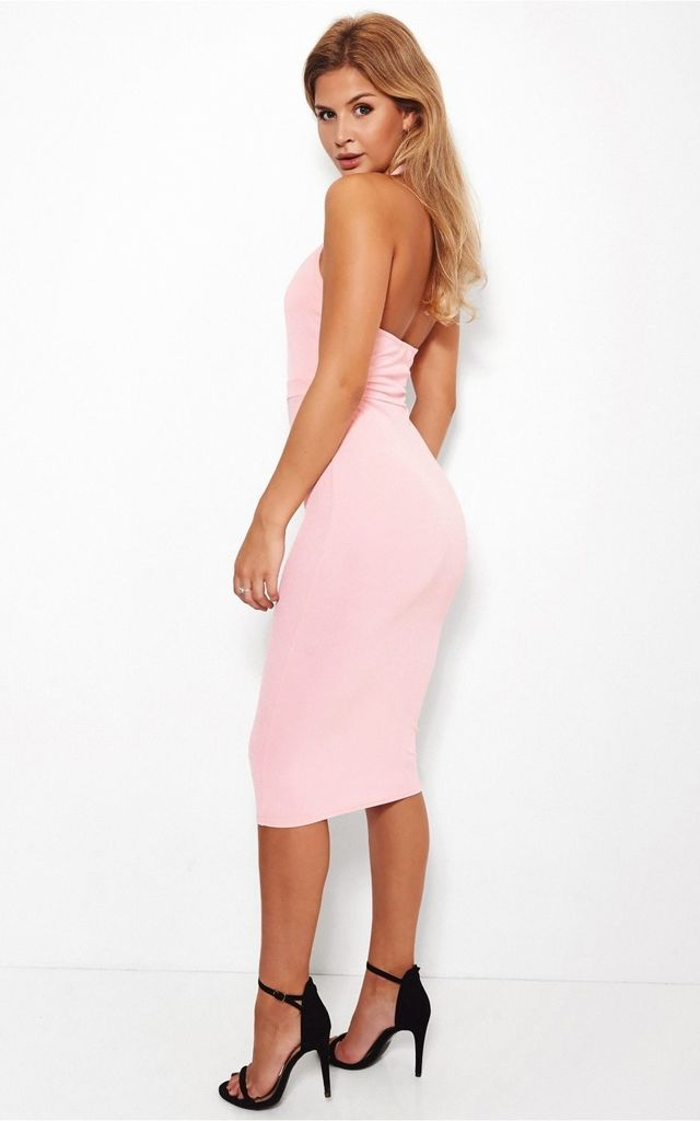 Thandie Pink Bodycon Dress by The Fashion Bible