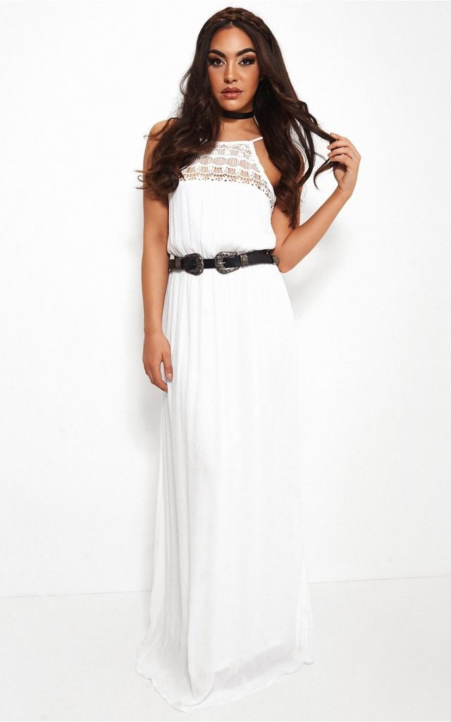 Kaiki White Lace Maxi Dress by The Fashion Bible