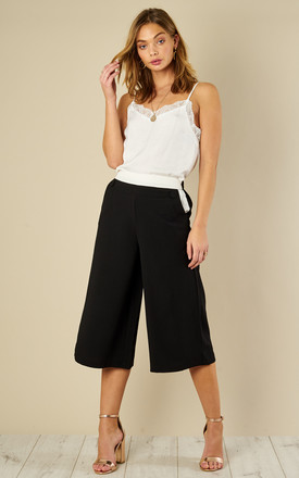 Black Loose Culottes by ANGELEYE