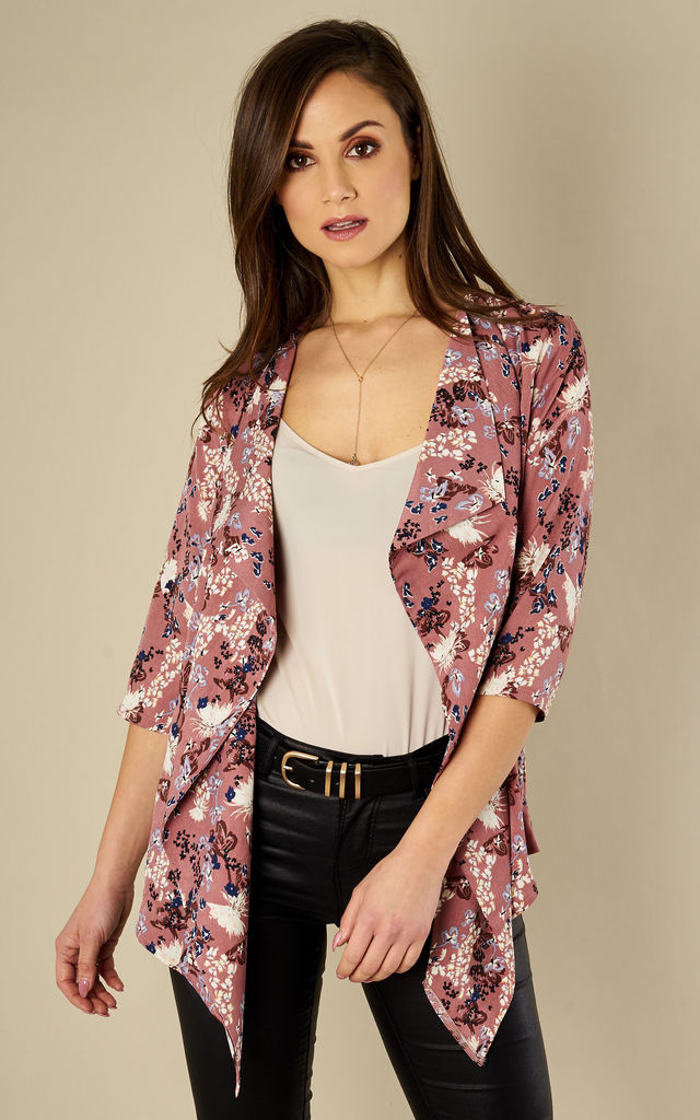 Floral Waterfall Jacket by Madam Rage