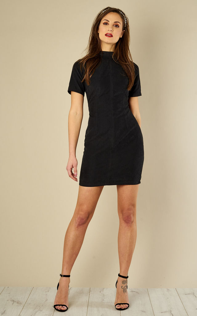 135b0a432055 Black Suede Mini Dress by Madam Rage