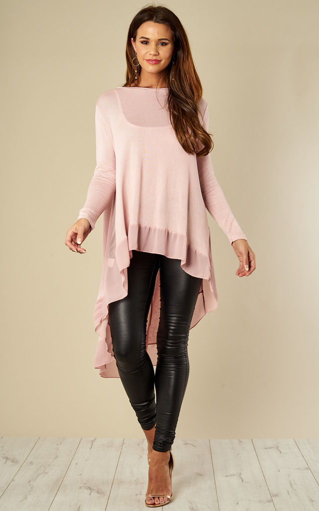 Pink Chiffon Back Top by Bella and Blue