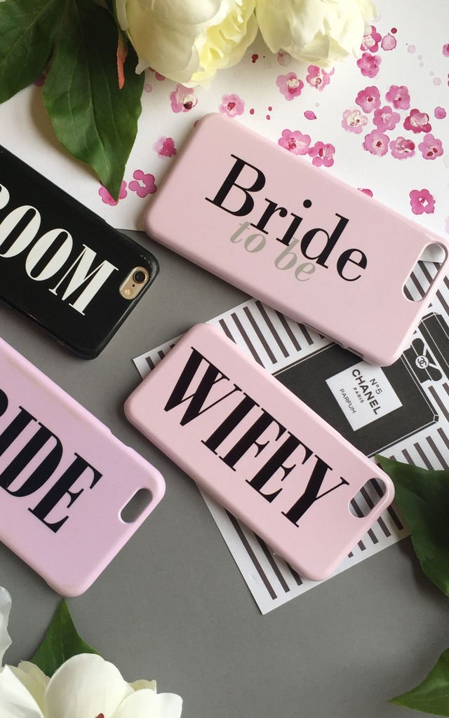 Wifey dusty pink phone case by Rianna Phillips