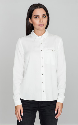 Long sleeve shirt in white by FIGL