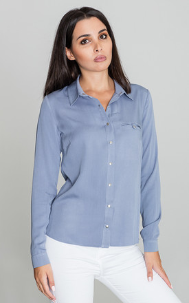 Blue Classic Shirt With Pocket by FIGL