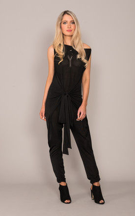 Tie Jumpsuit Black by DARE LABEL