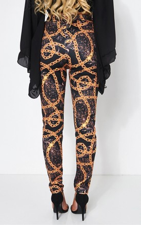 Rocca Baroque Chain Print Trousers by The Fashion Bible