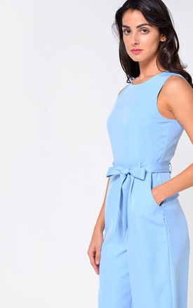 Layla Longline Culotte Jumpsuit in Sky Blue by Marc Angelo