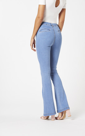 Flared Jeans Light Blue Denim by Two For Joy
