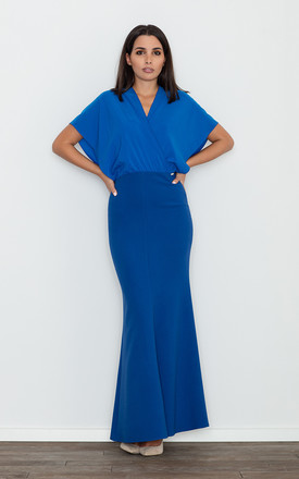 Batwing Maxi Dress in blue by FIGL