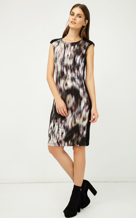 Sleeveless Print Dress by Conquista Fashion