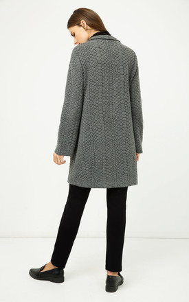 Straight Grey Coat by Conquista Fashion