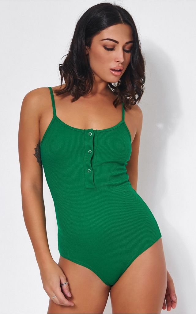 506d8bb4162 Basics Green Bodysuit By The Fashion Bible