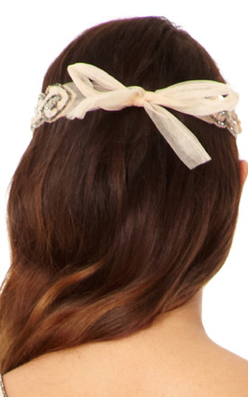 Charleston Vintage Inspired Headband in Nude Blush by Gatsbylady London