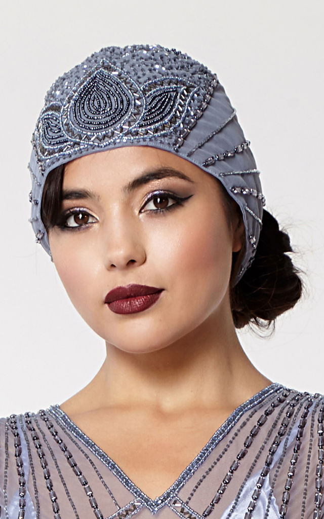 Beatrice Flapper Turban in Lilac by Gatsbylady London