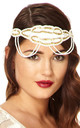 Ritz Vintage Inspired Headband in White Gold by Gatsbylady London