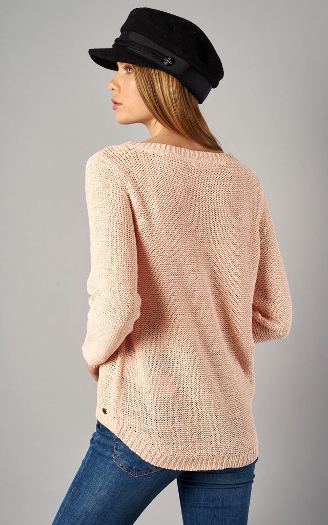 Strawberry Cream Long Sleeve Pullover Knit by ONLY
