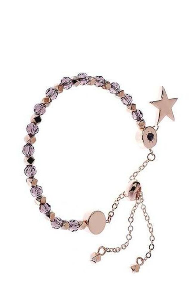 Rose Gold and amethyst star bracelet by Nautical and Nice Ltd