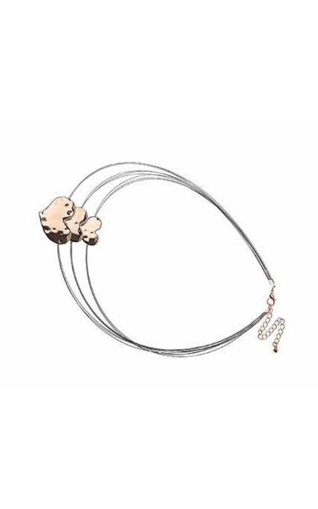 Rose Gold heart triple necklace. by Nautical and Nice Ltd