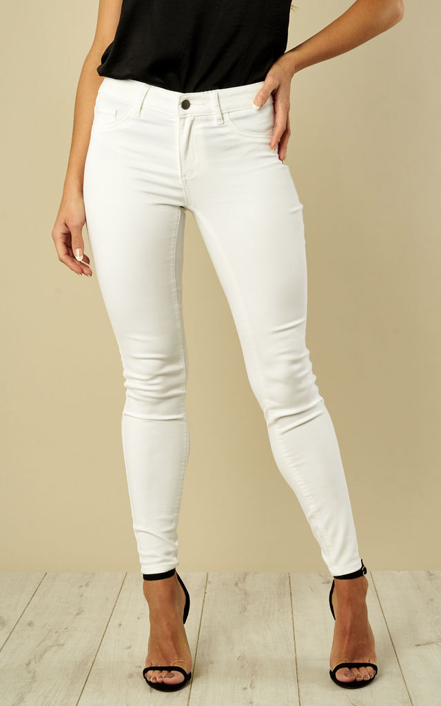 Optical Snow Skinny Jeans by VILA