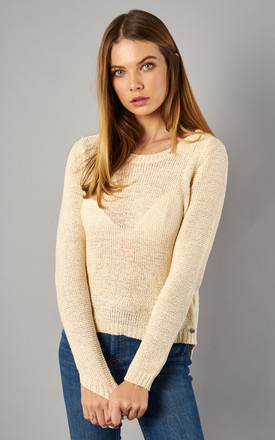 Cream Long Sleeve Pullover Knit by ONLY Product photo