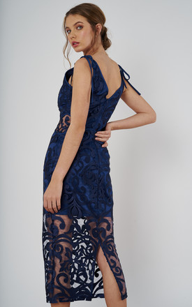 alchemy midi dress in navy by Finders Keepers