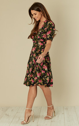 Vintage Wrap Dress Country Bouquet Navy by Ruby Rocks
