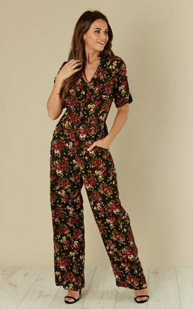 Charlie Jumpsuit Country Bouquet Black by Ruby Rocks Product photo
