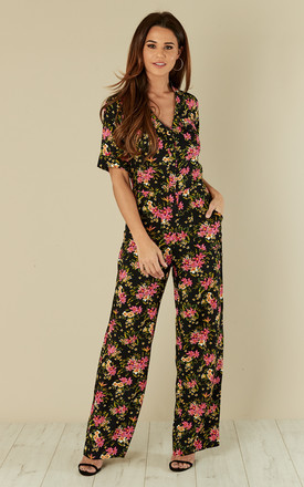 Charlie Jumpsuit Country Bouquet Navy by Ruby Rocks Product photo