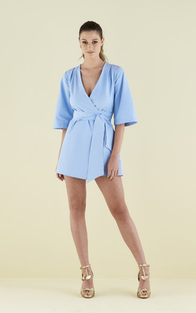 Mary H Wrap / Kimono In Pale Blue by CocooVe Product photo