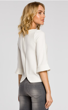 Flare sleeve Top in white by MOE