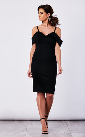 Black Cold Shoulder Bodycon Dress by The Vanity Room Product photo