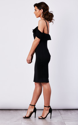BLACK COLD SHOULDER BODYCON DRESS by The Vanity Room