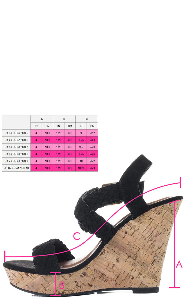 PLEASING Platform Wedge Heel Espadrille Sandals Shoes - Black Suede Style by SpyLoveBuy