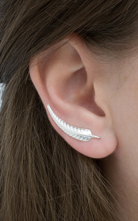 Sterling Silver Fern Ear Climber by Martha Jackson Jewellery