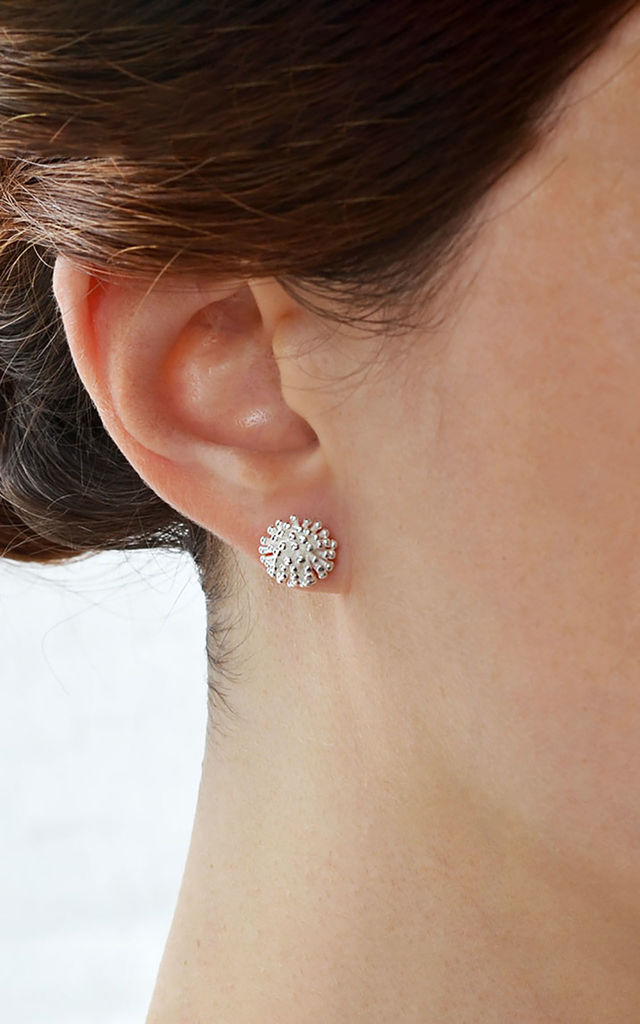 Sterling Silver Cluster Stud Earrings by Martha Jackson Jewellery