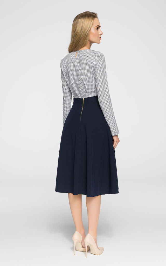 A-line Midi Skirt in Navy by MOE