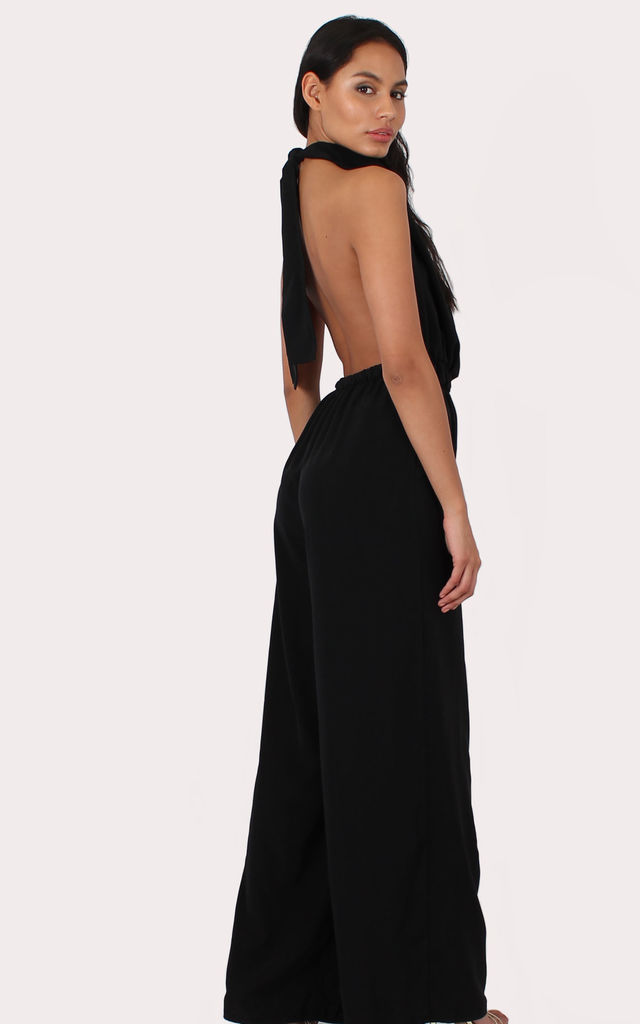 TALL Maya Black Jumpsuit by Silver Birch