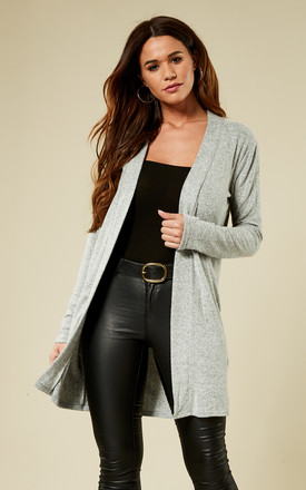 Light Grey Long Sleeve Cardigan by Pieces Product photo