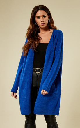 Blue Long Sleeve Wool Cardigan by Pieces Product photo