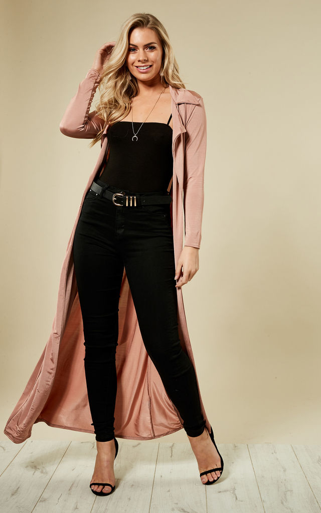 Rose Slinky Maxi Duster Jacket by Bella and Blue