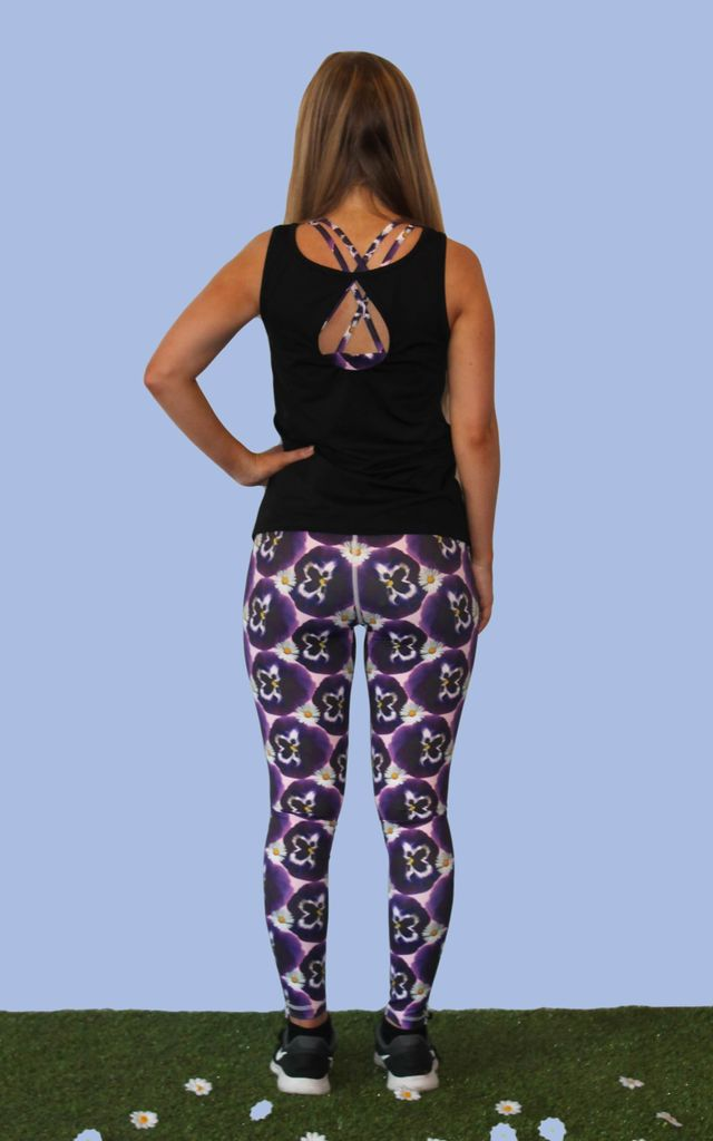 Pansy Print Leggings by Daisy & Co London