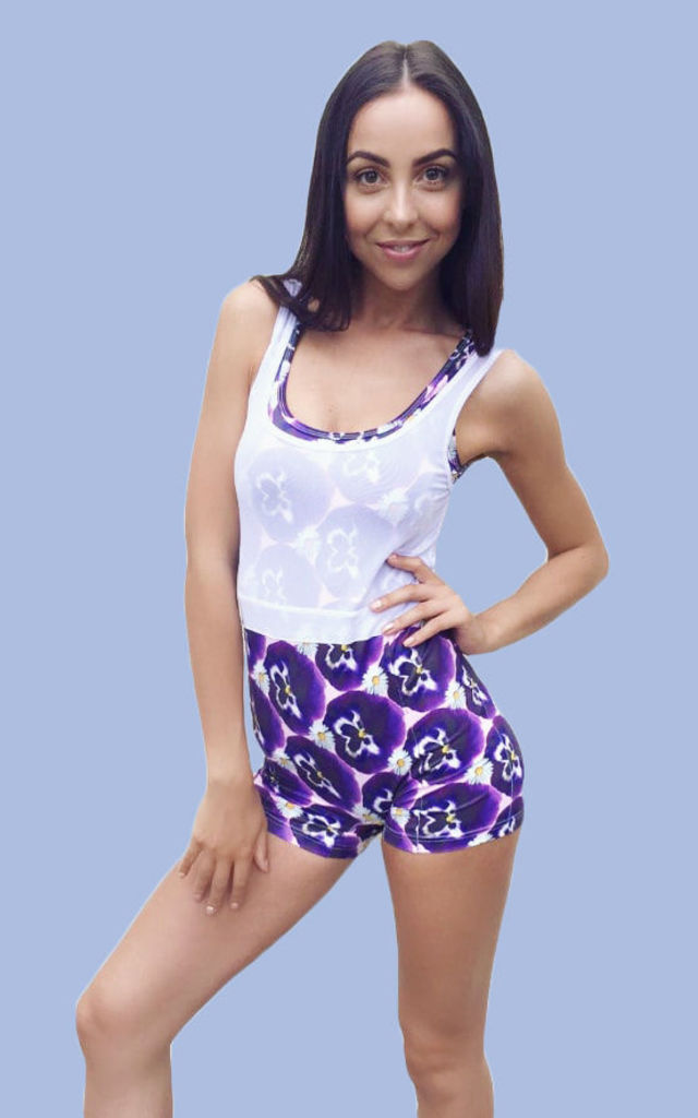 Pansy Print Playsuit by Daisy & Co London