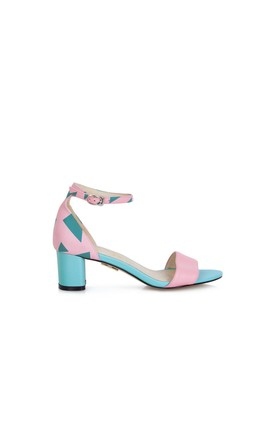 Scarborough Mint Heeled Sandals by Yull Shoes