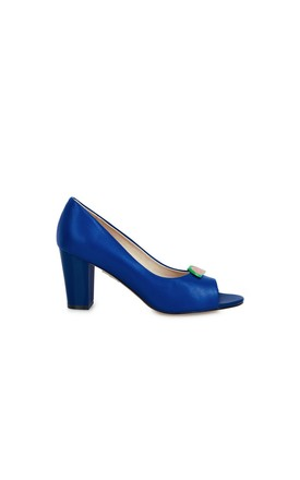 Westbourne Blueberry Heeled Sandals by Yull Shoes