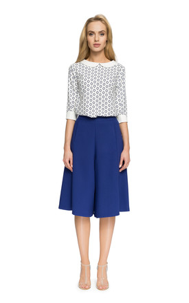 Royal blue culottes knee-length trousers by MOE