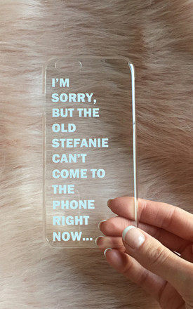 I'm Sorry monogram phone case by Rianna Phillips