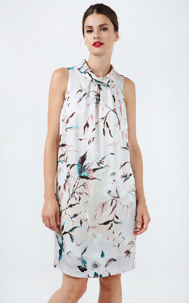 Straight Sleeveless Satin Dress by Conquista Fashion