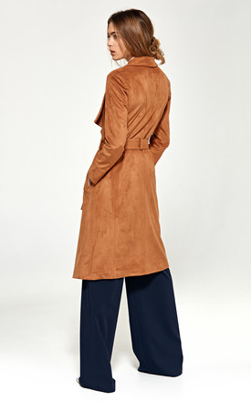 Coat with a shawl collar - caramel by so.Nife