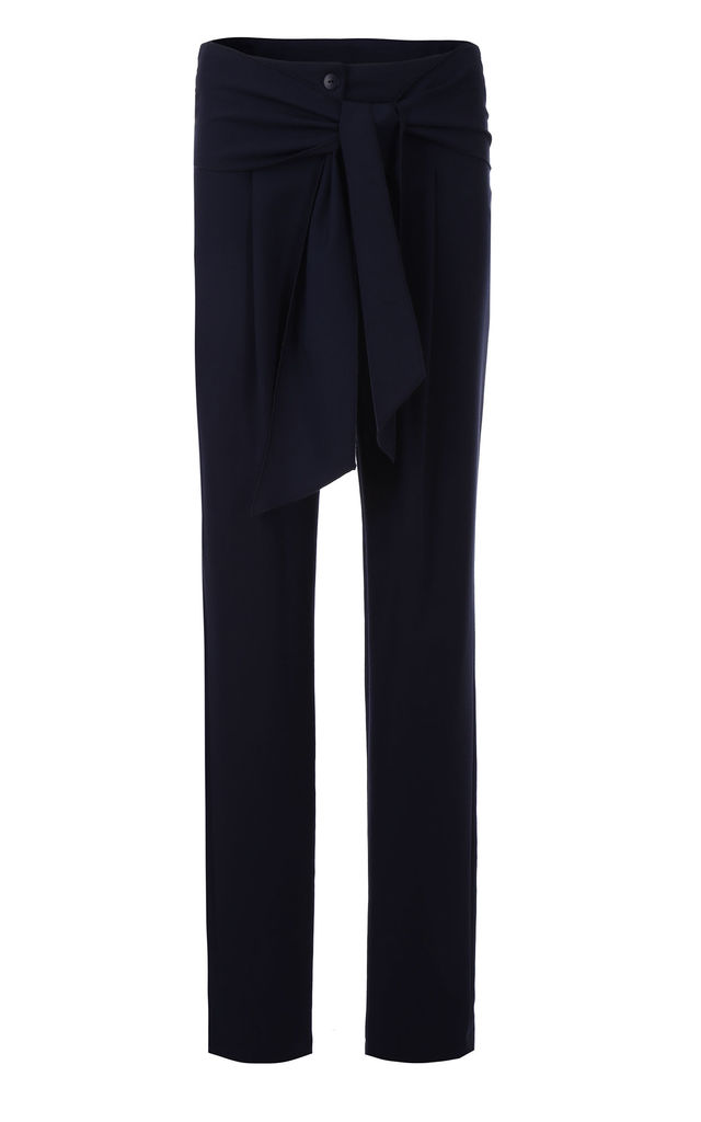 Pants with belts on hips - navy by so.Nife